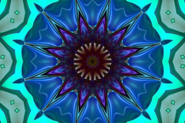 Kaléidoscope d'étoiles